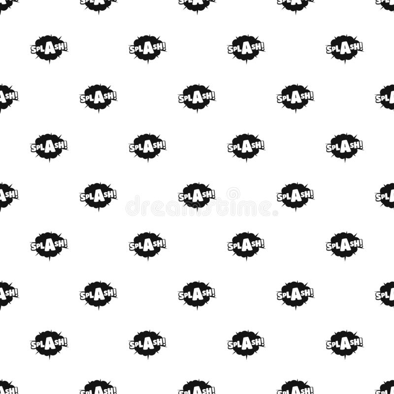 Comic boom splash pattern seamless vector vector illustration