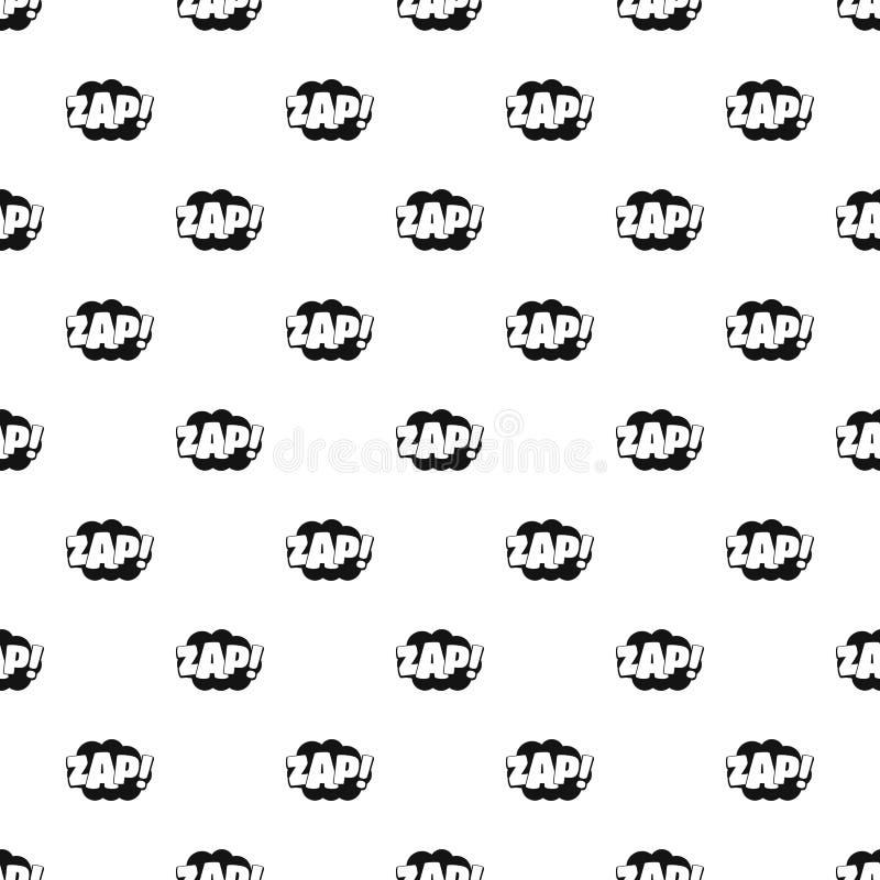 Comic boom zap pattern seamless vector stock illustration