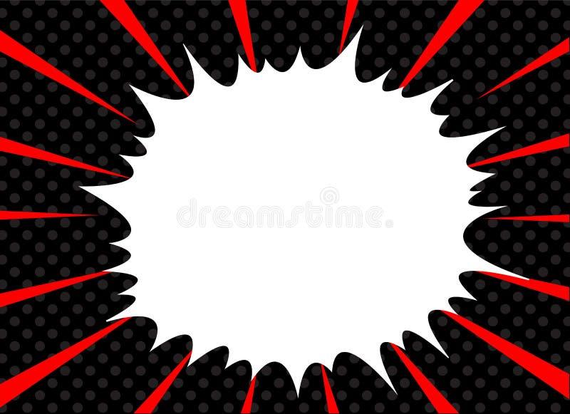Comic-Buch-Explosionssuperheldpop-arten-Artradialstrahl zeichnet Hintergrund Manga oder Animegeschwindigkeitsrahmen stock abbildung