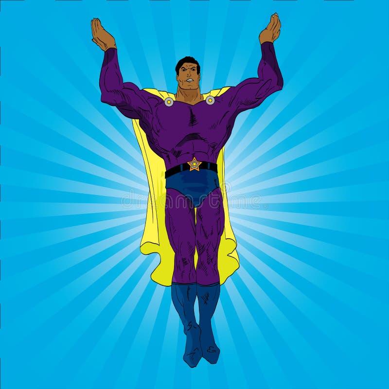 Comic-Buch-Held lizenzfreie abbildung