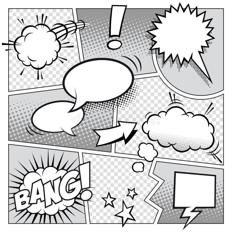 Comic-Buch-Seite lizenzfreie abbildung