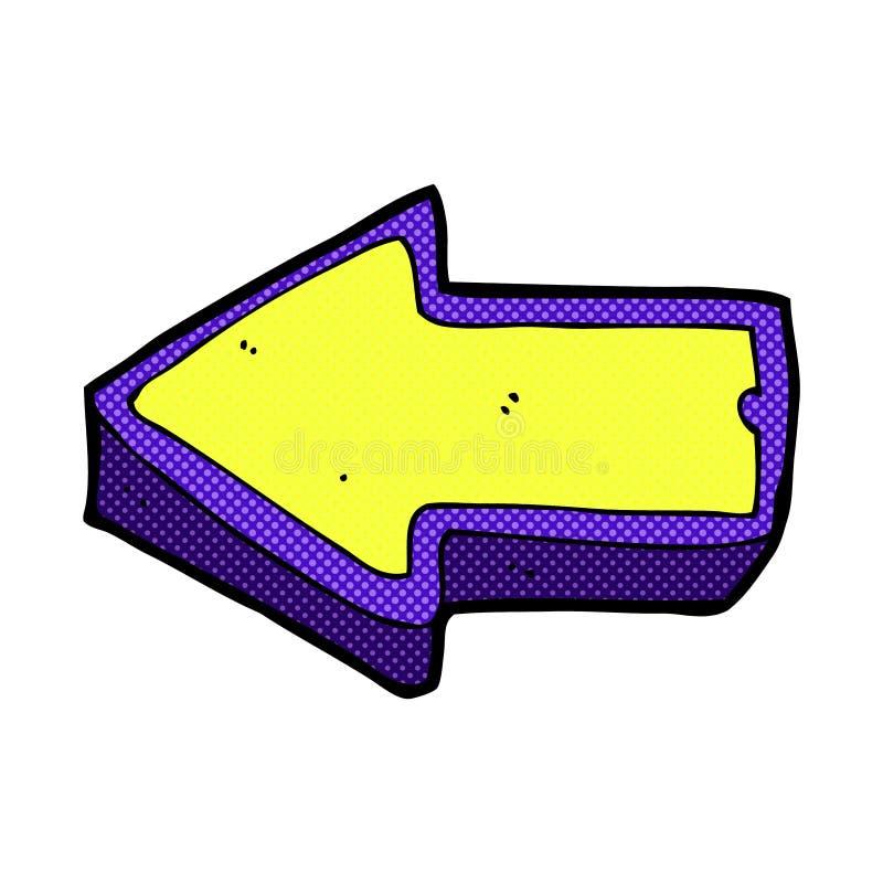 comic cartoon arrow symbol stock illustration illustration of rh dreamstime com cartoon arrow png cartoon arrow outline