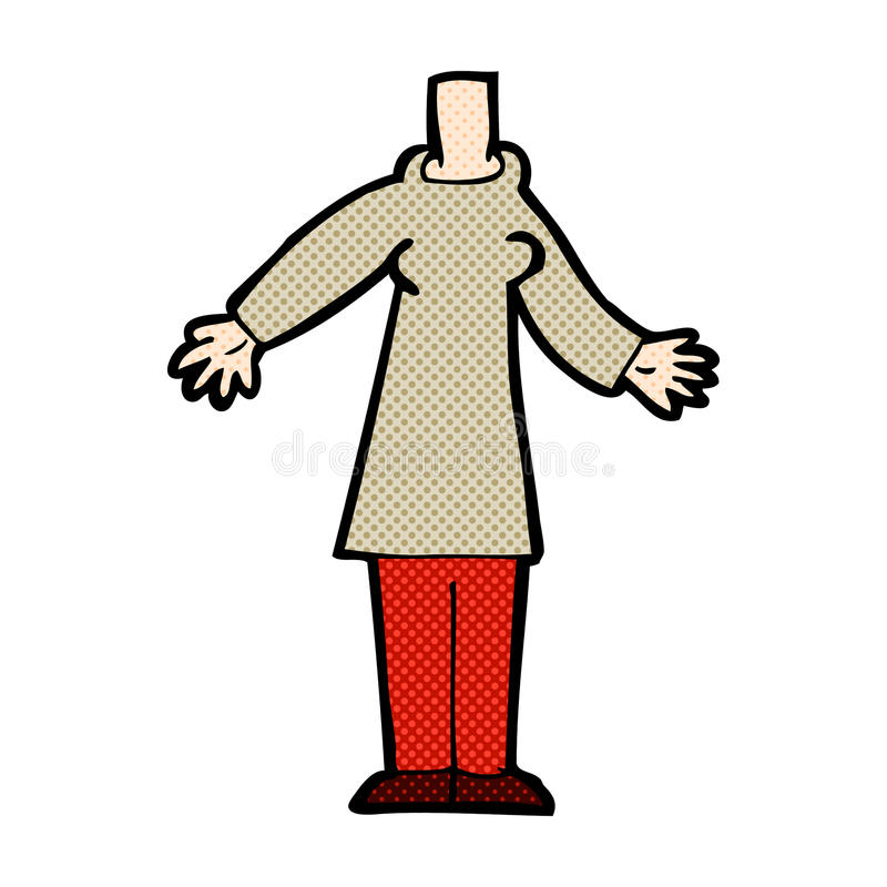 Comic cartoon body (mix and match comic cartoons or add own phot. Retro comic book style cartoon body (mix and match retro comic book style cartoons or add own stock illustration