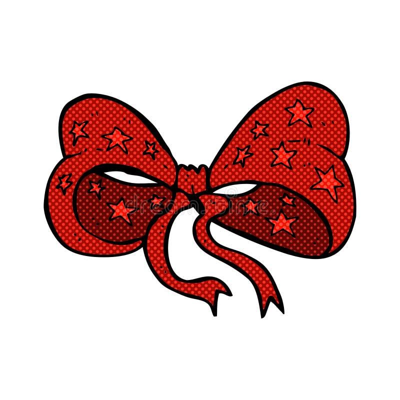 Comic cartoon bow tie. Retro comic book style cartoon bow tie vector illustration