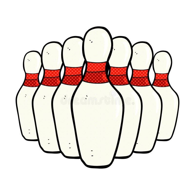 Comic cartoon bowling pins stock illustration illustration of hand 52935606 - Bowling dessin ...