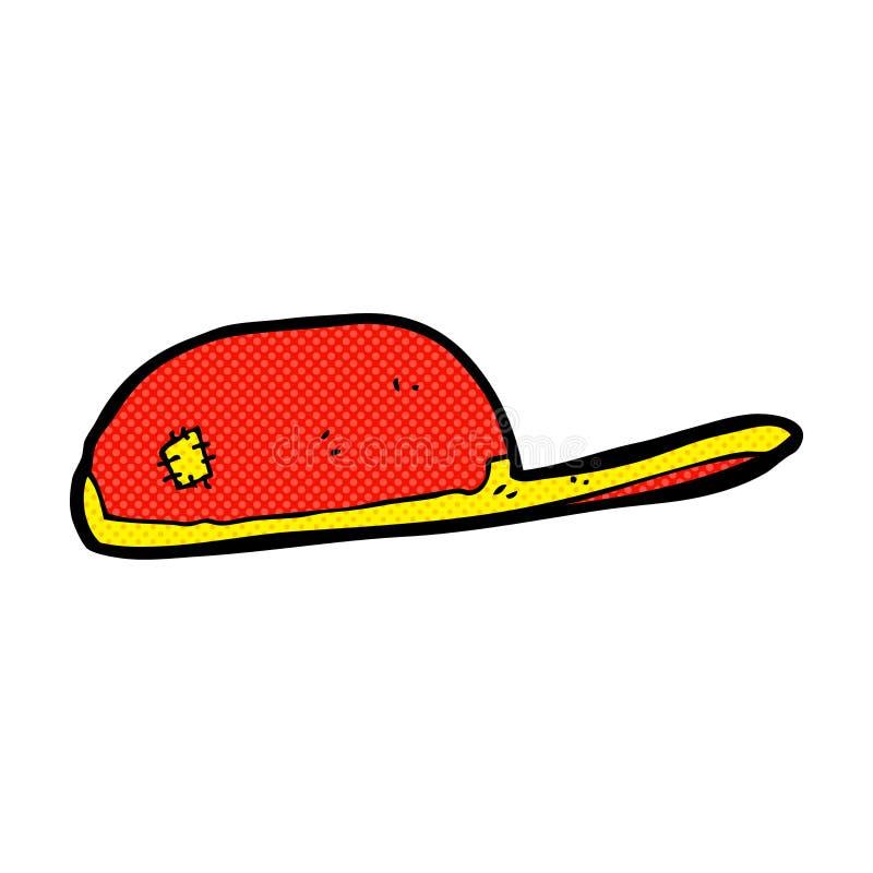 Comic cartoon cap. Retro comic book style cartoon cap vector illustration