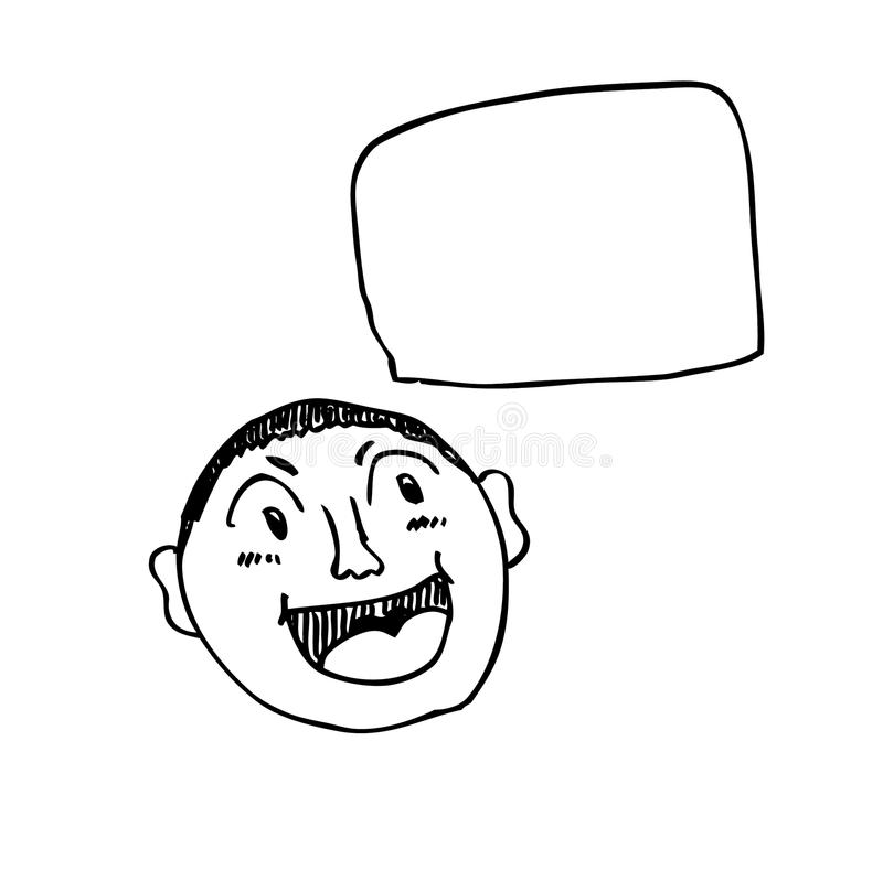 Comic Cartoon Doodle With Speech Bubble Royalty Free Stock Images