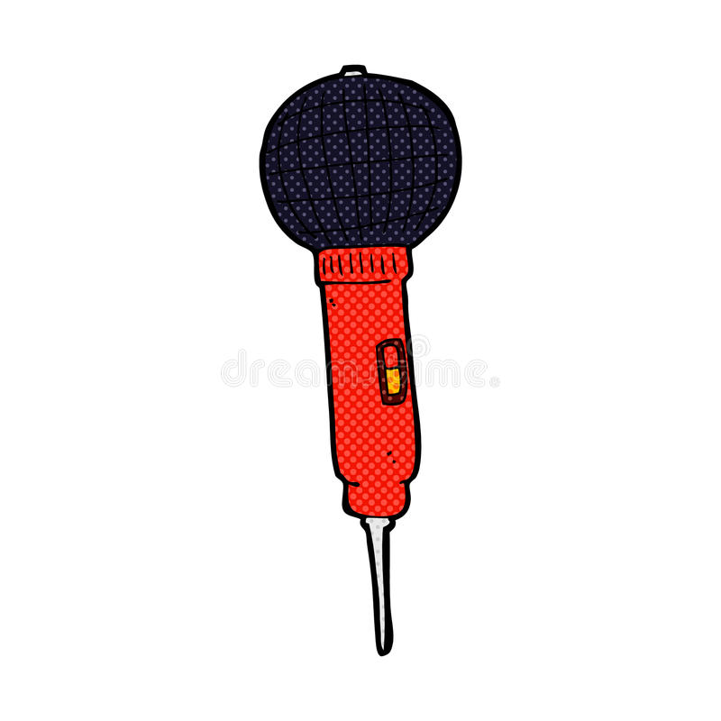 comic cartoon microphone stock illustration
