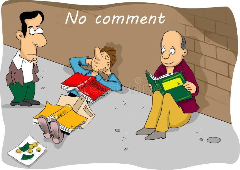 Comic cartoon no comment stock illustration