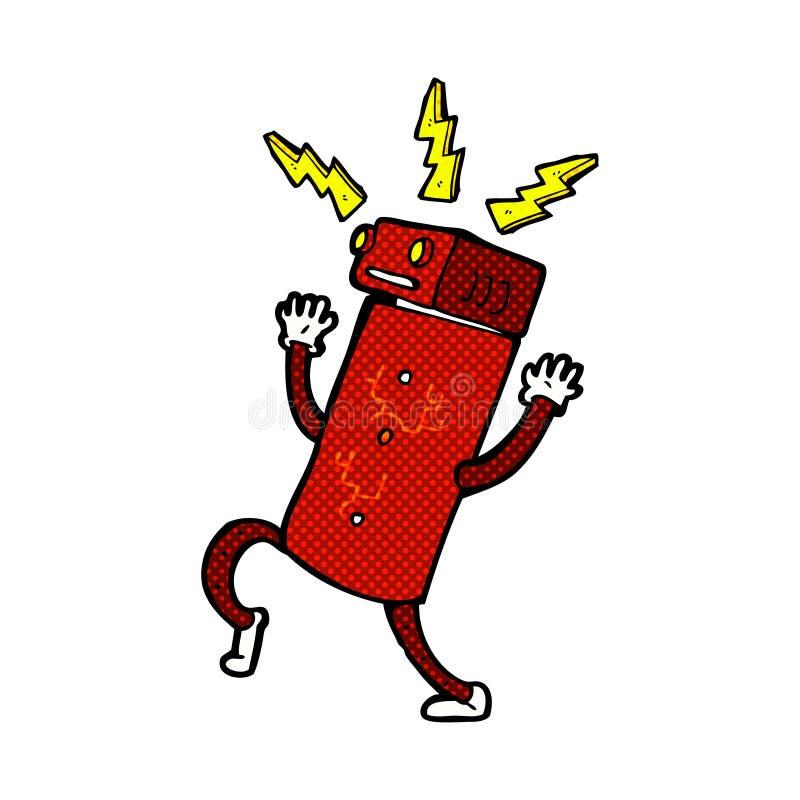 Comic cartoon robot. Retro comic book style cartoon robot royalty free illustration