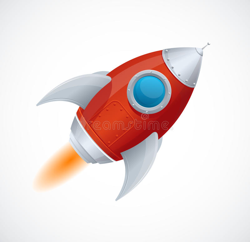 Download Comic Cartoon Rocket Space Ship Stock Vector - Illustration of iron, fiction: 34693904