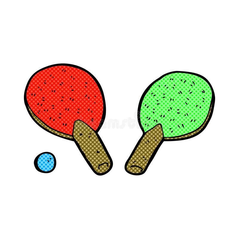 comic cartoon table tennis bats royalty free illustration