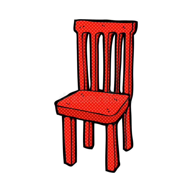 Comic cartoon wooden chair stock photo image