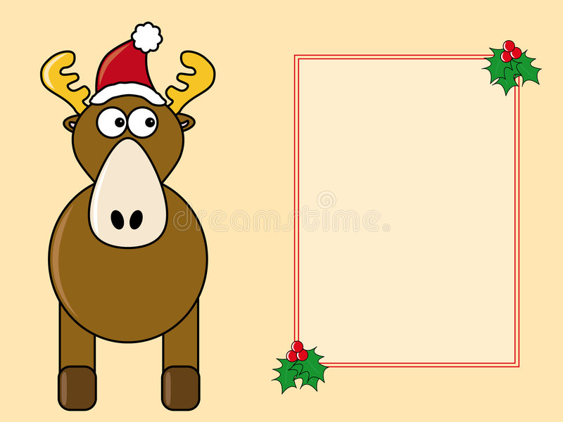 Comic Christmas card royalty free illustration