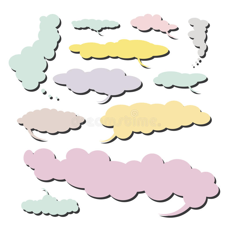 Comic Cloud collection - Set 4 royalty free illustration