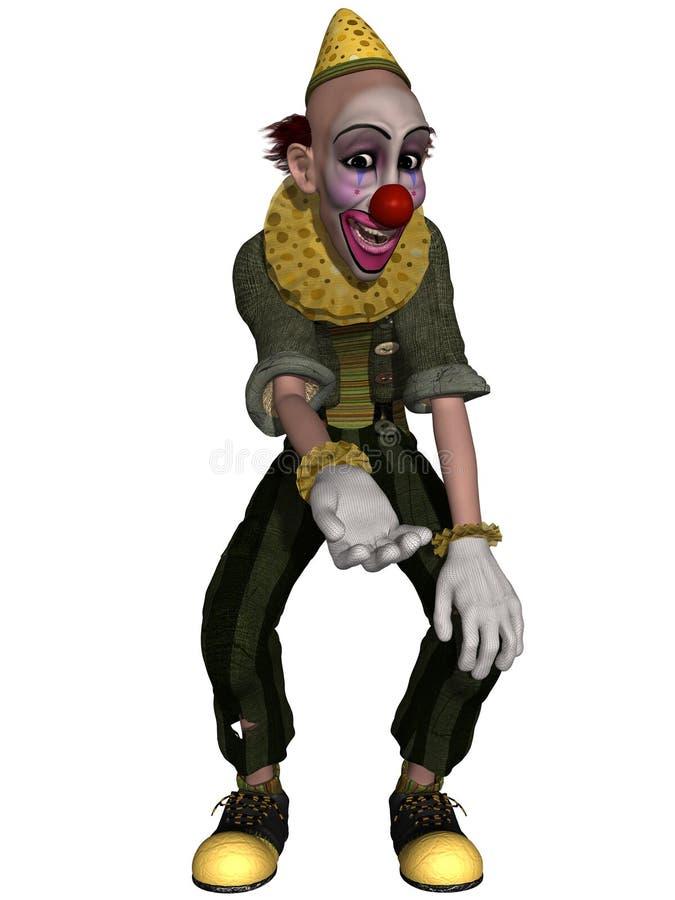 Comic Clown royalty free illustration