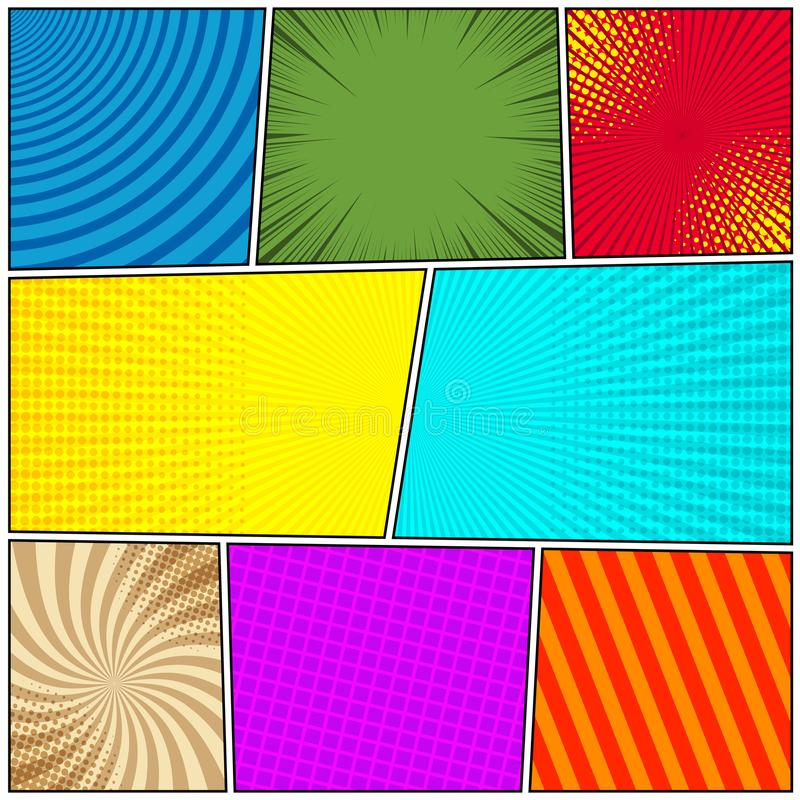 Comic colorful background royalty free illustration