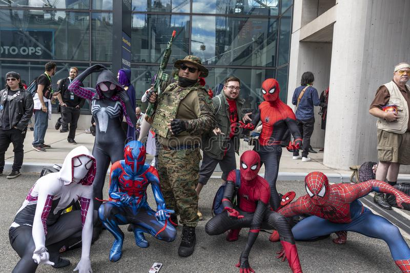 Comic Con NYC 2019 royalty free stock image