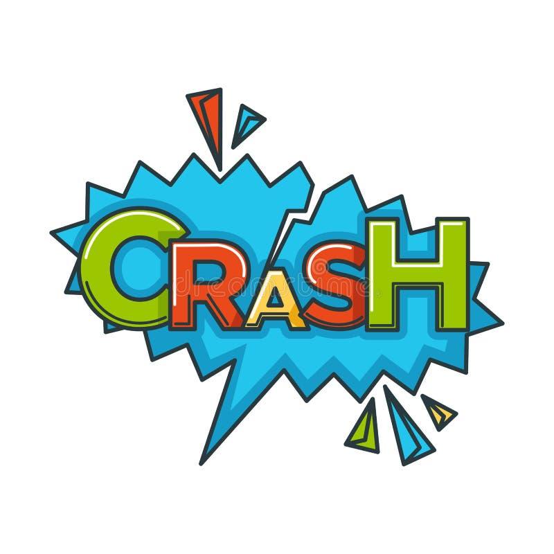 Comic crash speech bubble cloud explode cartoon vector icon stock illustration