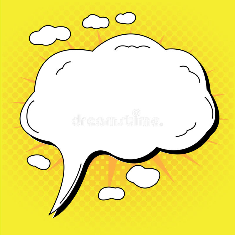 Comic expression. Comic speech bubble, Vector illustration stock illustration