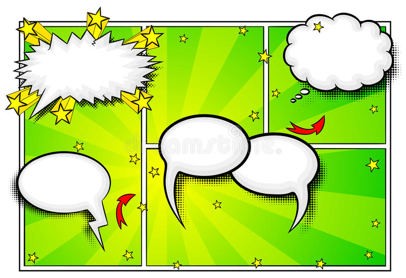 Comic frames as background vector illustration
