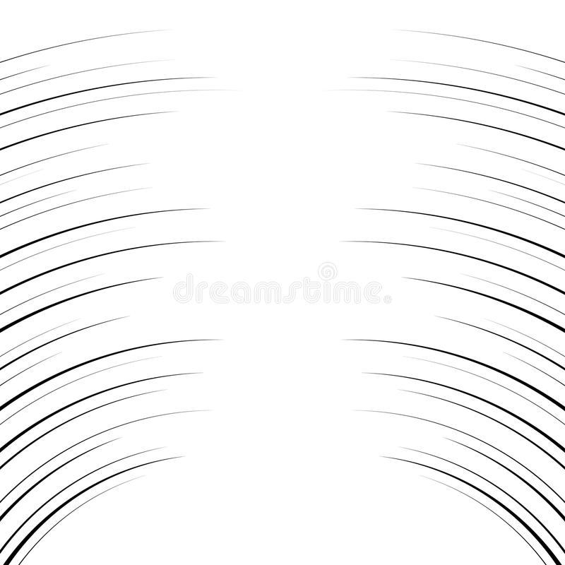 Comic horizontal curved lines background stock illustration
