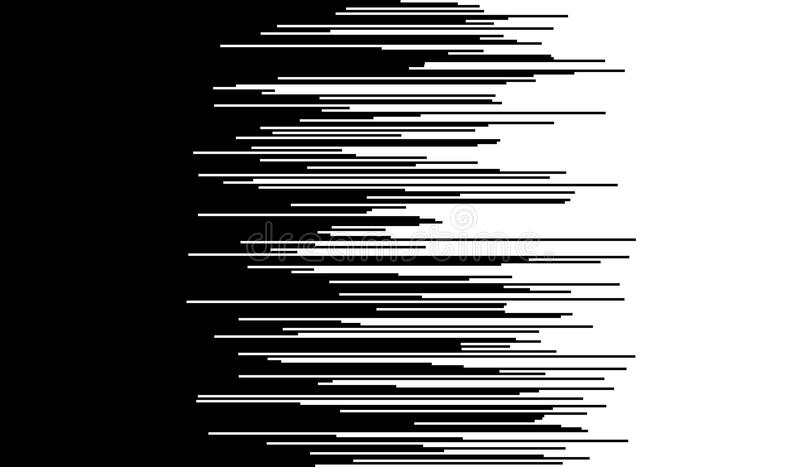 Comic horizontal speed lines background royalty free illustration