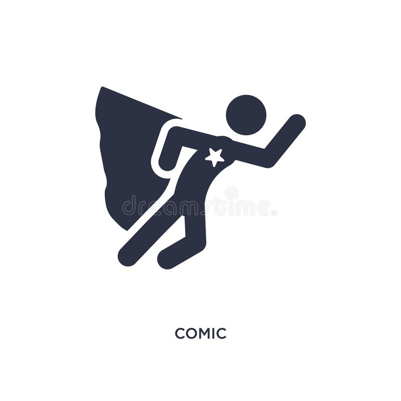 comic icon on white background. Simple element illustration from activity and hobbies concept stock illustration