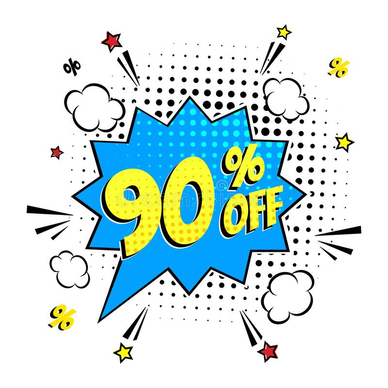 Comic Lettera 90% di SALE nella bolla vocale royalty illustrazione gratis