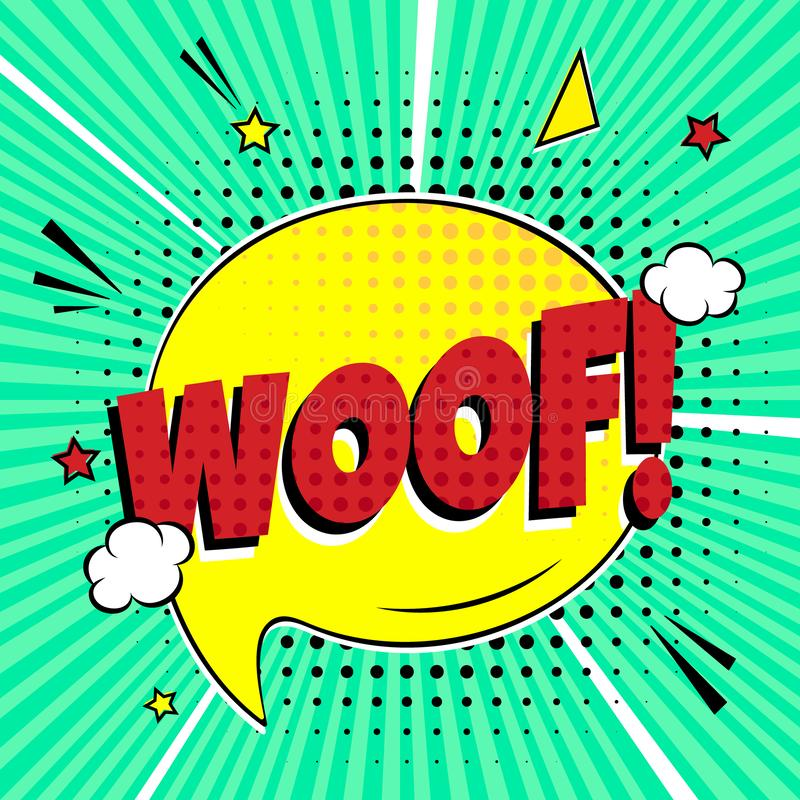 Woof In Word Bubble. Stock Vector. Illustration Of
