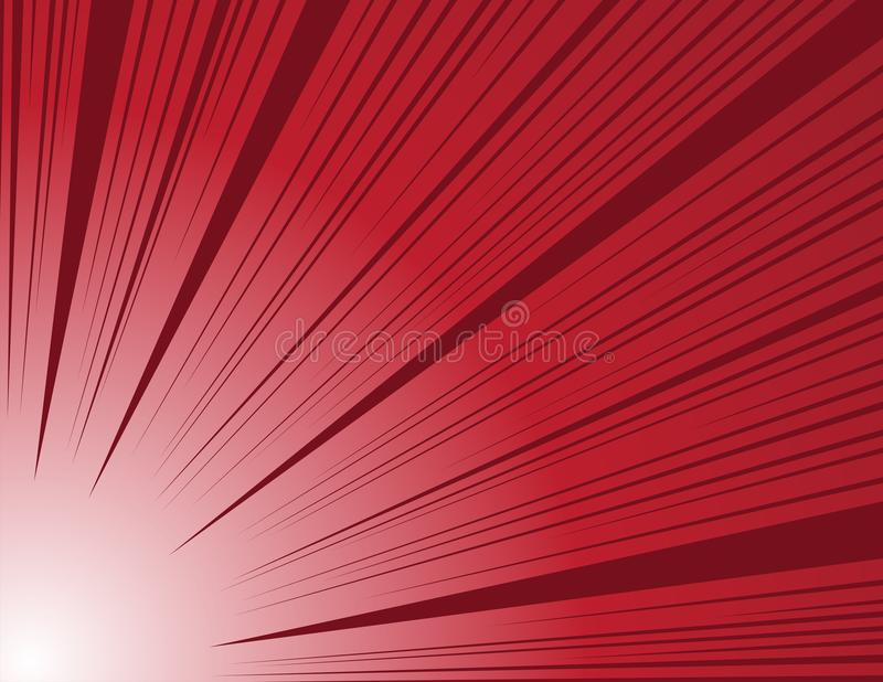 Comic and manga books speed lines background. red vector illustration. / abstract royalty free illustration