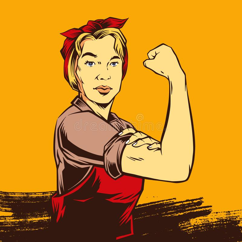 Free Comic Retro Strong Powerful Woman Royalty Free Stock Images - 125405119