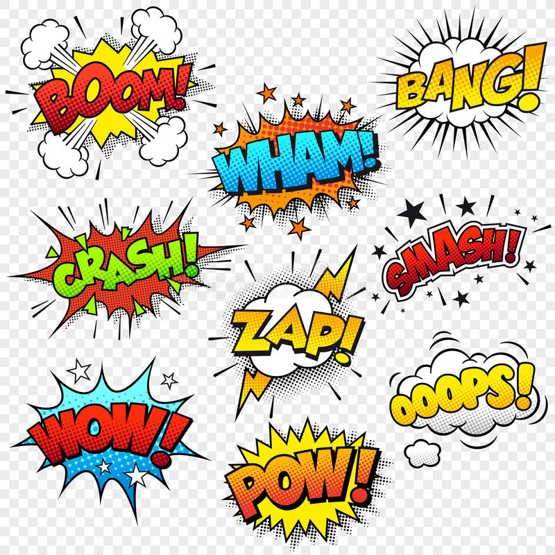 Comic Sound Effects vector illustration