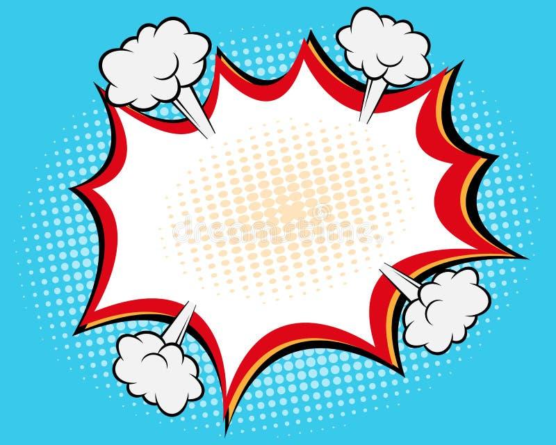 Comic Speech Bubble. Comic Book Speech Bubble , Pop art Background Vector Illustration