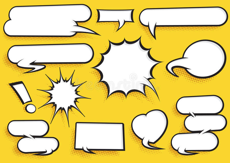 Comic Speech Bubble Set stock illustration