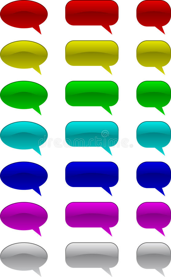 Download Comic speech bubbles stock vector. Illustration of chating - 11329702