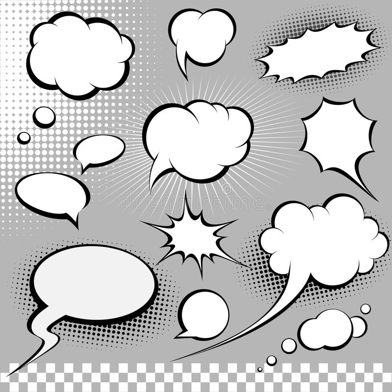 Free Comic Speech Bubbles Royalty Free Stock Photography - 13272687