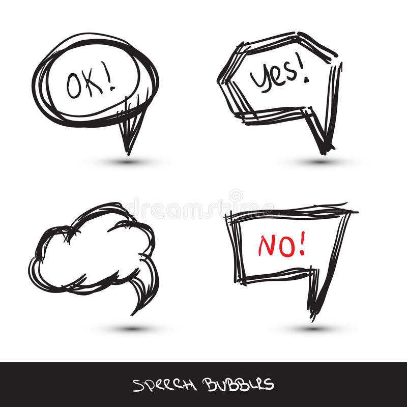 Comic Speech Bubbles. stock illustration