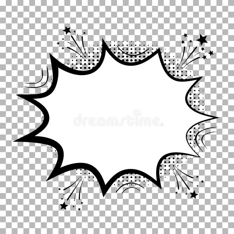 Comic speech bubbles with halftone shadows. Isolated on transparent background. Icon Empty dialog Clouds in pop art style. Vector royalty free illustration