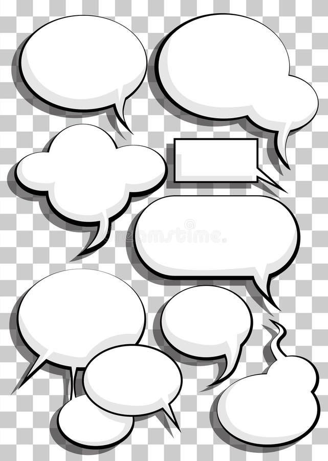 Comic speech bubbles vector illustration