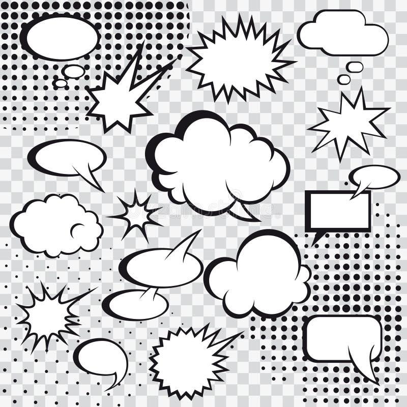 Comic speech bubbles stock vector illustration of design for Comic strip bubble template
