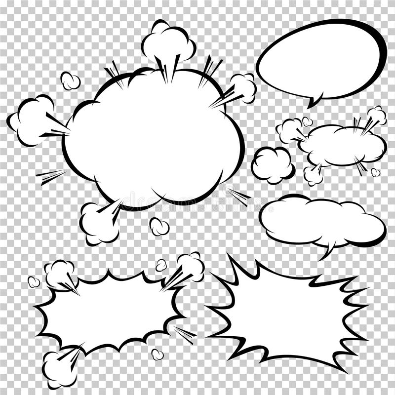 comic strip bubble template - comic speech bubbles vector illustration stock