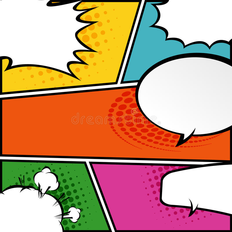 Comic Speech Bubbles,Vector Illustration Stock Vector - Illustration ...