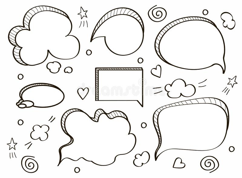 Comic speech bubbles royalty free illustration