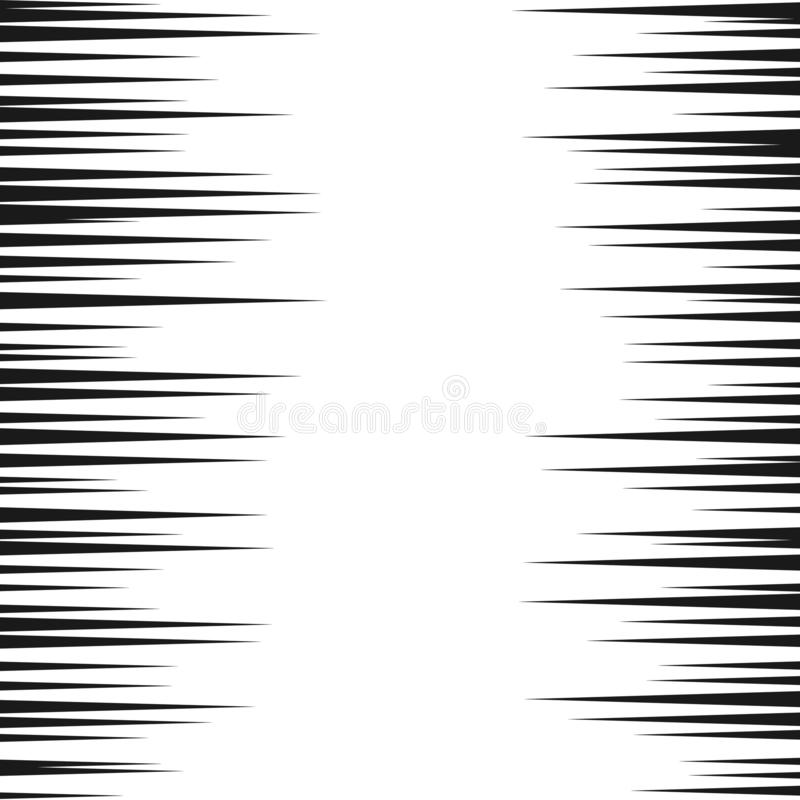 Comic speed lines background. Manga speed frame. Cartoon motion background. Superhero action. Vector illustration isolated on. White background stock illustration