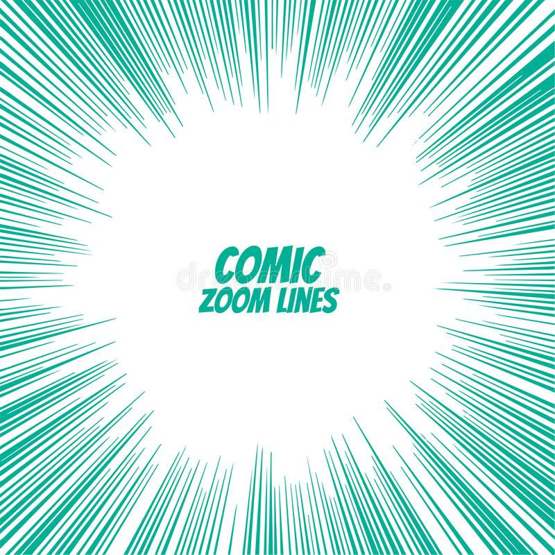 Comic speed zoom lines background royalty free illustration