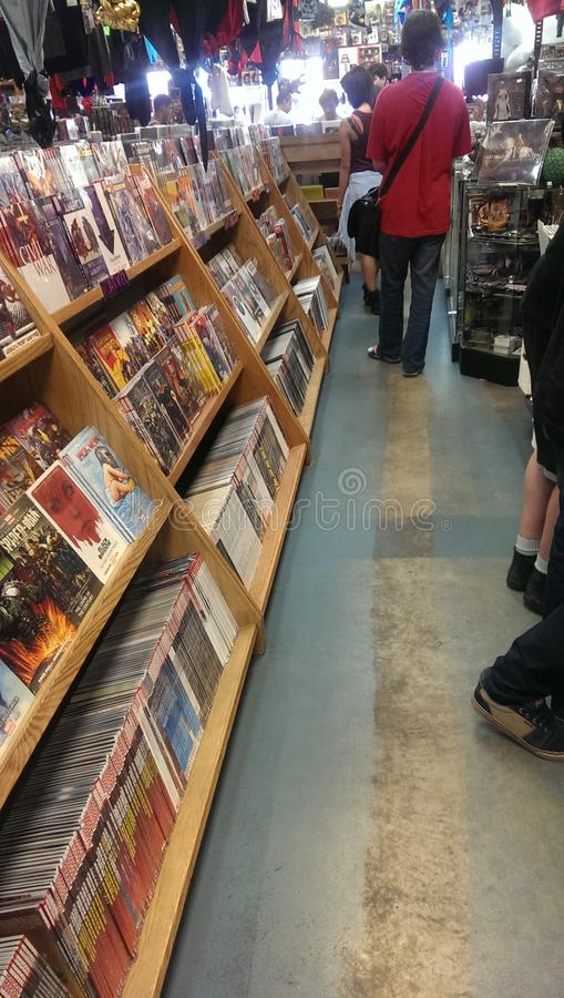 Comic Store stock photo