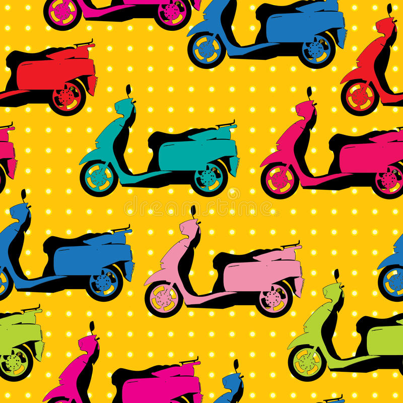 Download Comic Style Scooter Pattern Stock Vector - Image: 28455915
