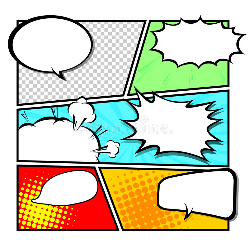 Comic template Vector royalty free illustration