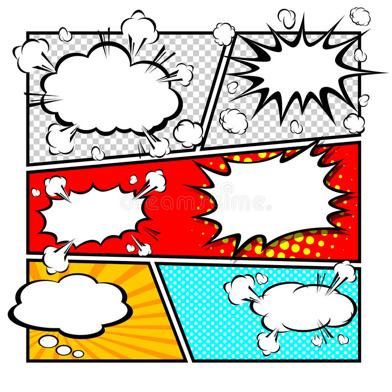 Comic Template Vector Stock Vector Illustration Of Boom